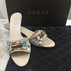 🆕 Gucci Bamboo Floral Trendy slip on sandals